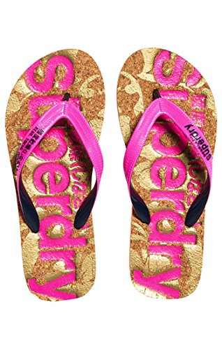 Dark Pink Navy Printed Cork Flop Multicolor Superdry Chanclas Mujer Fluro Flip Sq3 para gvUfPUzqw
