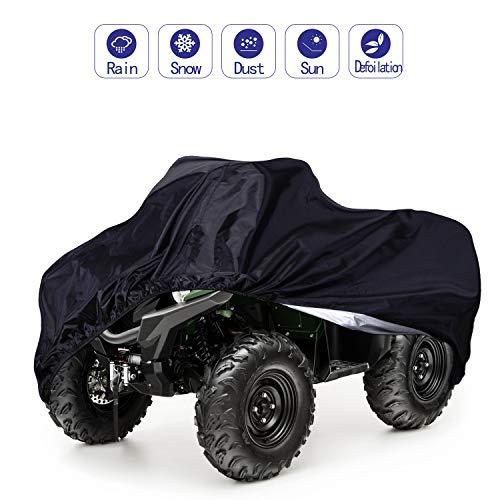 ATV Cover,Waterproof Protects 4 Wheels Rain Covers from Sun or Snow for Most Honda, Yamaha, Polaris, Suzuki, Kawasaki,88'' x 39.2'' x 42.4''