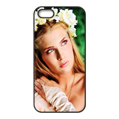 Bride Wreath Roses Jewelry 77442 coque iPhone 5 5S cellulaire cas coque de téléphone cas téléphone cellulaire noir couvercle EOKXLLNCD22428