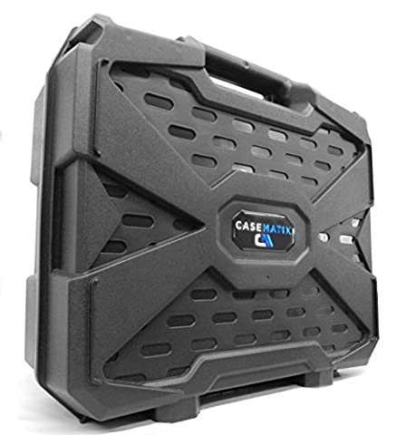 CASEMATIX Travel Hard Case with Dense Foam for Steam Machines by Alienware , Gigabyte BRIX Pro and ZOTAC NEN SN970 - For Steam Machine , Steam Link , Steam Controller , Power and (Gigabyte Brix 970)