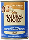 Natural Choice Large Breed Weight Management Adult Chicken And Rice Formula Chunks In Gravy - 12.5 Oz. (355 G)