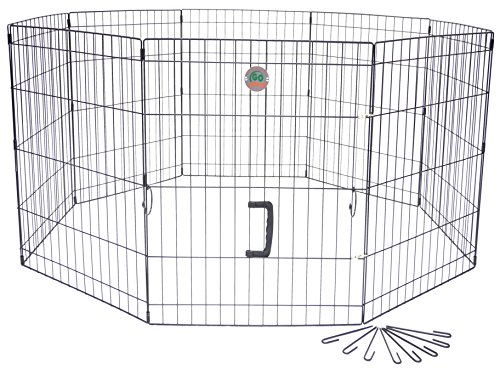 Cheap Go Pet Club 42-Inch High Wire Play Pen 8-Panels