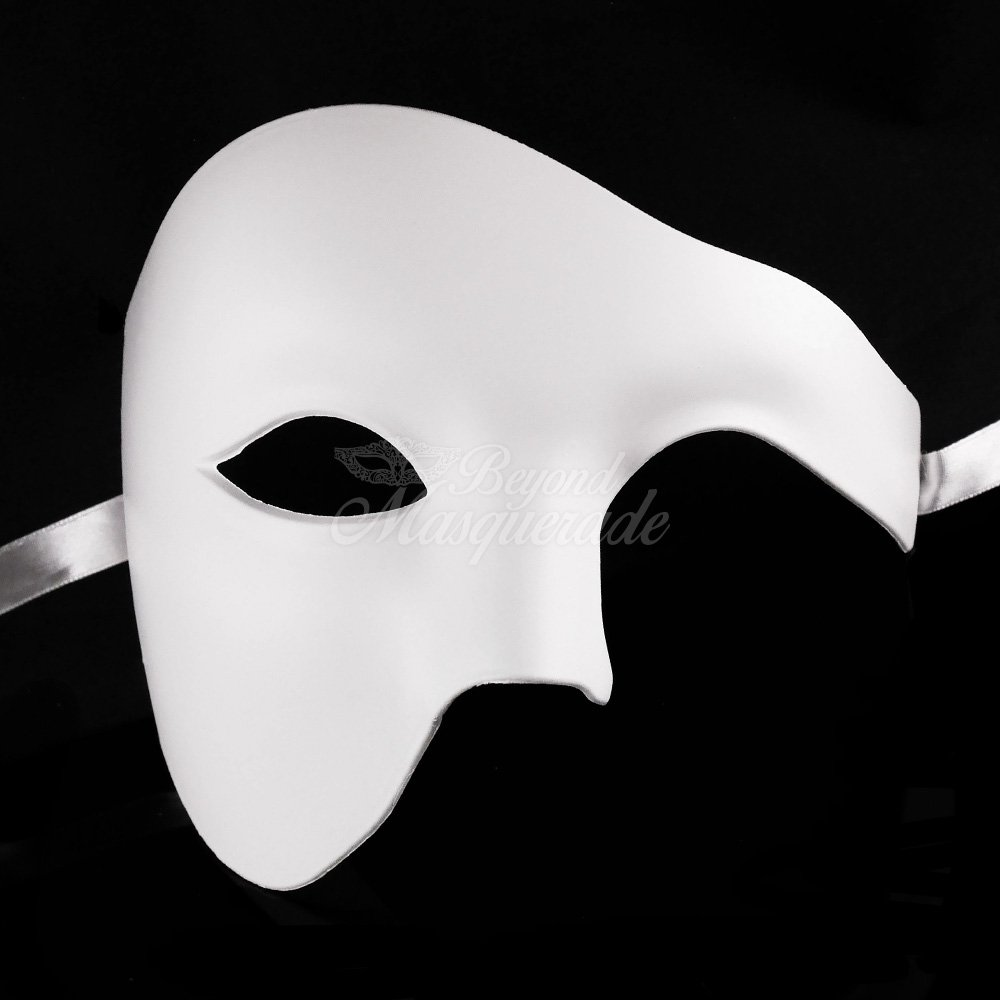 Halloween White Blank Face Prom Costume Masquerade Party Mask