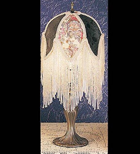 Meyda Tiffany 19059 Fabric & Fringe Roses Accent Lamp, 7