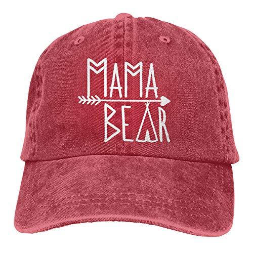 OASCUVER Mama Bear Denim Hat Adjustable Female Stretch Baseball Hats -