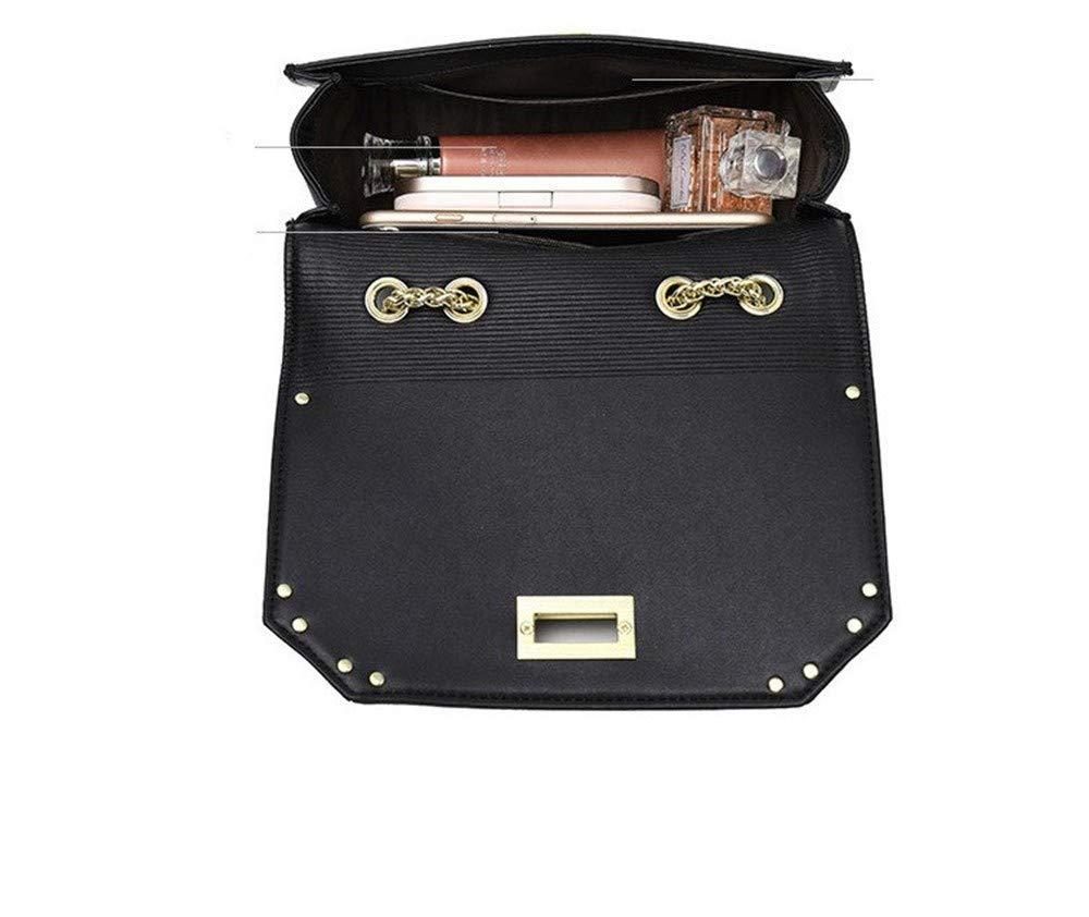 One-Shoulder Leather Handbags Handbags Fashion Trend Water Wave Stripe Chain Crossbody Bag Red Cross-Body Bags
