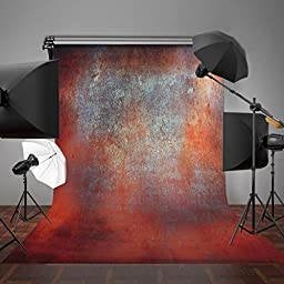 MOHOO 5X7ft Cotton Polyster Photography Background Vintage Wall Backdrop Collapsible and Washable Studio Prop Background (Updated Material)No Wrinkle