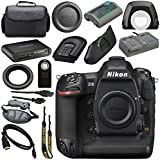 Nikon D5 DSLR Camera (Dual CF Slots) #1558 + Mini HDMI Cable + Carrying Case + Wireless Universal Shutter Release Remote + Multi Purpose USB card Reader + Hand Strap Bundle