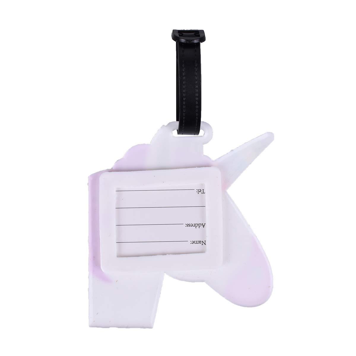 Identificador de Maletas de Etiqueta de PVC Equipaje Bolso ID Tag Portatarjetas con Hebilla Placa de Identificacion de Viaje VerteLife 5 Piezas PVC Etiqueta de Equipaje para Bolsa de Viaje y Maleta