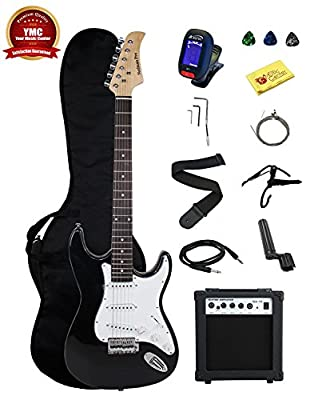 Stedman Pro Beginner Series 39-Inch Electric Guitar with 10-Watt Amp, Case, Strap, Cable, Picks, Electronic Tuner, Stringwinder and Polish Cloth