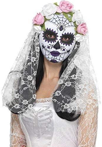 Le jour de mort avec rose MEXIQUE Festival Halloween Visage Masque