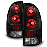 For Toyota Tacoma Pickup Truck Black Bezel Rear Tail Lights Brake Driver/Passenger Lamps