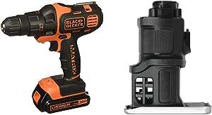 BLACK+DECKER 20V MAX Matrix Cordless Drill Combo Kit, 2-Tool with Jig Saw Attachment (BDCDMT120IA & BDCMTJS)