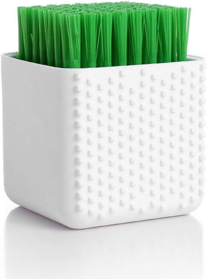 Silicone Cleaning Brush Clothes Brush Laundry Brush Stain Brush for Clothes Underwear Shoes, All Purpose Scrub Brush (White)