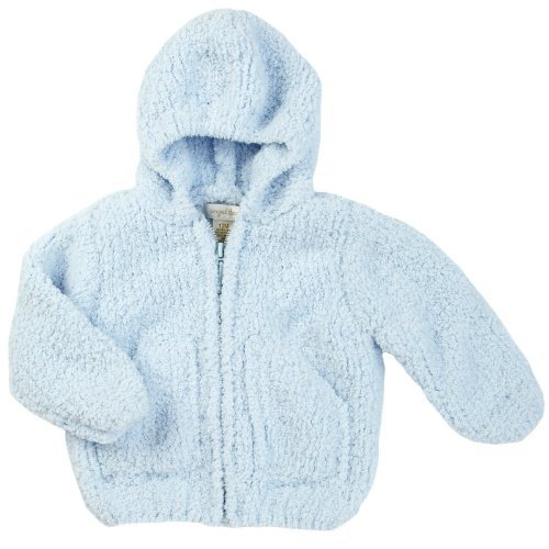 Angel Dear Light - Angel Dear Unisex Baby Fleece Zip Hoodie - Light Blue - 18 Months