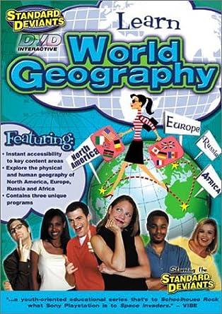 Amazoncom The Standard Deviants Learn World Geography - Learn world geography