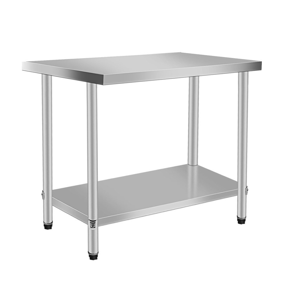 Belovedkai Stainless Steel Work Table, Commercial Kitchen Restaurant Work Food Prep Table, Sliver (29.92 x 23.62 x 35.43 in)