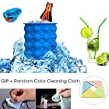 Upgraded Ice Cube Maker Genie Cup Silicone, Space Saving Round Ice bucket Trays Mold Kitchen Tools for Chilling Whiskey,Beer,Cocktail,Beverages and More