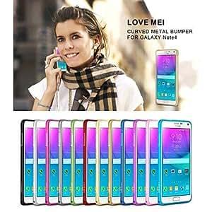 QHY Samsung Galaxy Note 4 compatible Solid Color/Metal Finish/Special Design Metal Bumper , Black