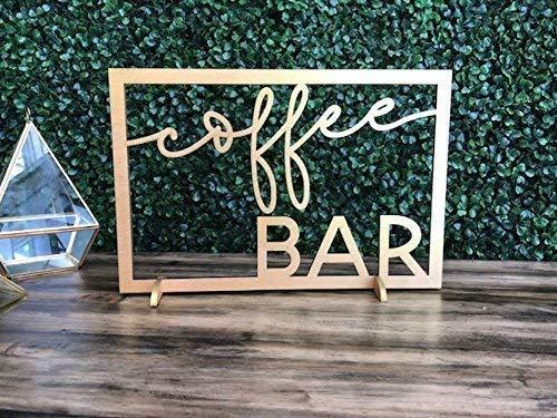 Amazon Com Coffee Bar Wood Sign Coffee Bar Shelf Signage Coffee
