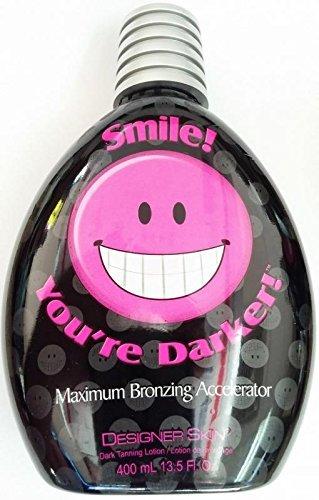 Smile You're Darker Indoor Dark Tanning Lotion - Smile Your Darker Designer Skin 400ml (13.5 Oz) by Designer Skin