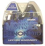 h13 blue headlight bulbs - EuroDezigns H13 Monster Blue Headlights - Dual High/Low 10,000K Xenon-Krypton HID Halogen Replacement Bulbs - (Pair)