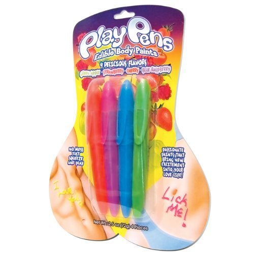 Play Pens Edible Body Paints ( 4 Pack ) by Hott Products Unlimited
