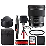 Sigma 50mm f/1.4 DG HSM Art Lens for Canon + 32GB Memory Card + 12-Inch Flexible Tripod + 77mm UV Filter + USB Card Reader + Lens Band + Memory Card Wallet + Lens Cleaning Pen + Lens Cap Holder
