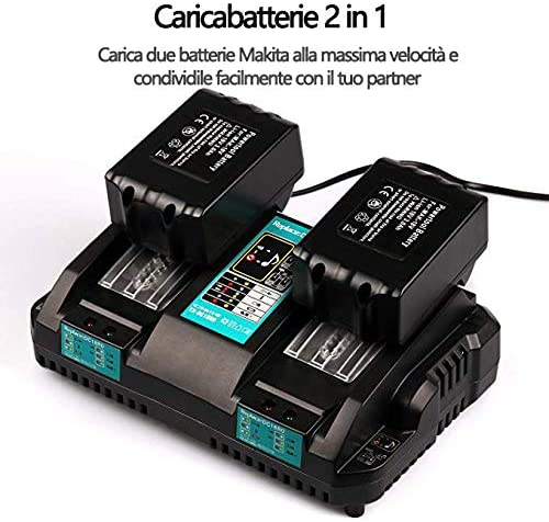 DC18RD Dual Port Caricabatterie per Makita 14.4V 18 V agli ioni di litio BL1430 BL1830 BL1415 BL1440 BL1840 BL1820
