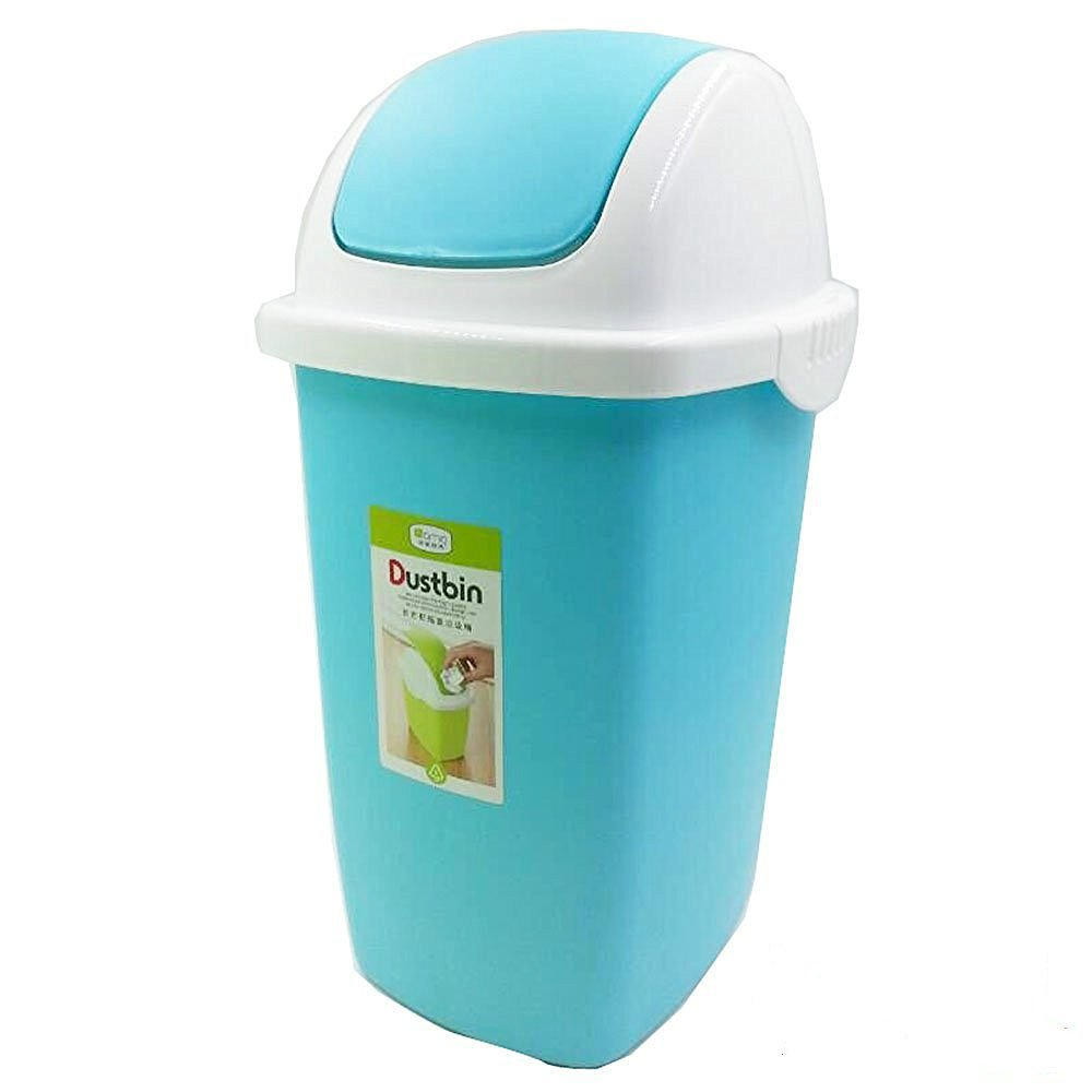 Amazon.com: Cand 2 Gallon Plastic Swing-Top Trash Can(Sky Blue ...