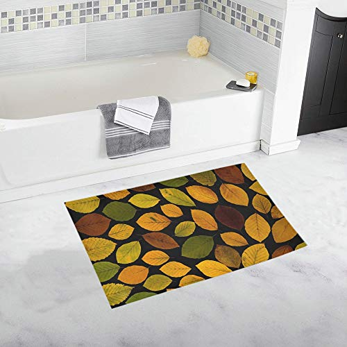 (Leaves True Leaves Maple Autumn Leaf Wallpaper Custom Non-Slip Bath Mat Rug Bath Doormat Floor Rug Bathroom 20 X 32 Inch)