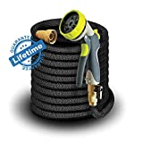 Elk & Bear Expandable Garden Hose with Spray Nozzle (50 ft)