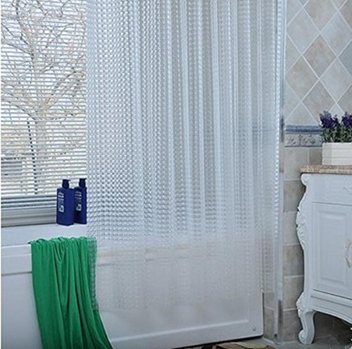 3D Effect Water Cube Mildew Proof Water Proof Shower Curtain