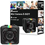 Ehomful Mini Spy Camera,Lightning Boot SQ11 1080P 30FPS Hidden Wearable Camera with Motion Detection and Night Vision. 6 Invisible NO GLOW IR Light, Swivel Mount and Body Clip Included.Supports Photo
