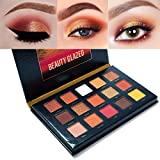 Beauty : Beauty Glazed Sunset Dusk Eyeshadow Palette 15 Colors Long Lasting Eye Shadow Powder Make Up Waterproof Eye Shadow Palette Cosmetics