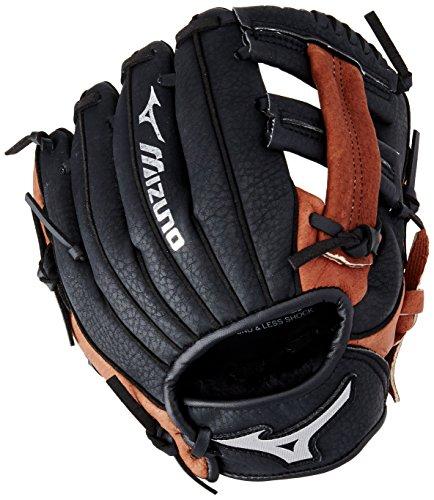 Mizuno Prospect Baseball Glove, Black, Youth/Kids, 9', Worn on left hand
