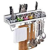 MOOLO Storage Racks Shelf Storage Rack Kitchen Space Aluminum Knife Spoon Holder (Size : 50x9x14.5cm)