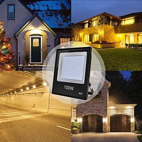 Ankishi Focos LED Exterior 10 Pack 100W, Foco Proyector Led 10000LM 3200K, Floodlight IP67 Impermeable, Led Iluminación Exterior de jardín, patio, plaza, cartelera, hotel ect.(Blanco Cálido): Amazon.es: Iluminación