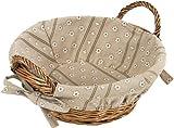 Kesper 17904 Bread Basket 12.2'' x 9.45'' x 5.51'' of Willow, Brown