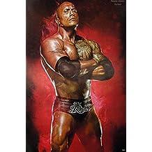 """Dwayne Johnson """"The Rock"""" Sport Photo Print poster Size 24""""x35"""" S-0660"""
