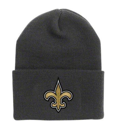 (New Orleans Saints Black Cuff Beanie Hat - NFL Cuffed Winter Knit Toque Cap)