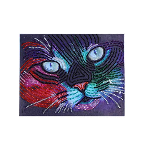 Outique Diamond Painting,Special Shaped Painting by Number Kits Special DIY 5D Partial Drill Cross Stitch Embroidery]()