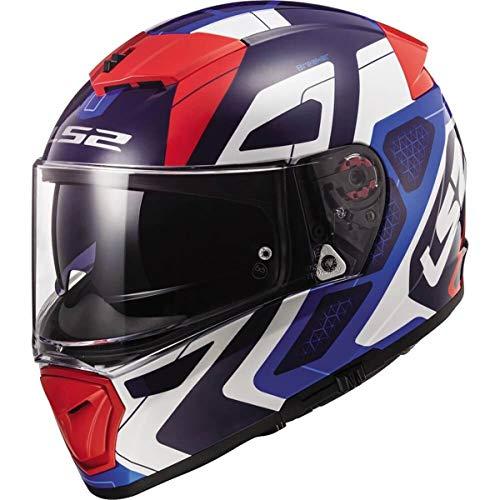 LS2 Helmets Unisex-Adult Full face Helmet (Red/White/Blue, Large)