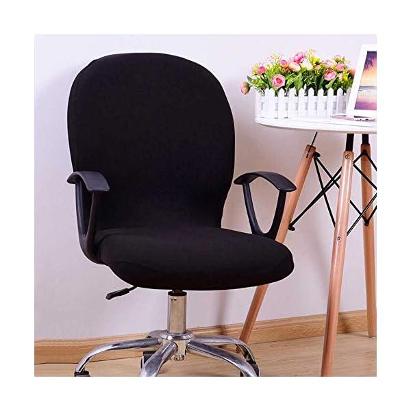 Housse de chaise de bureau universelle, lavable pour ordinateur, chaise pivotante, avec accoudoirs, chaise non incluse…