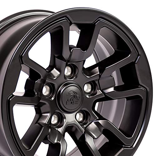 OE Wheels 17 Inch Fits Dodge RAM 1500 Rebel Style DG55 Satin Black 17x8 Rim Hollander 2614