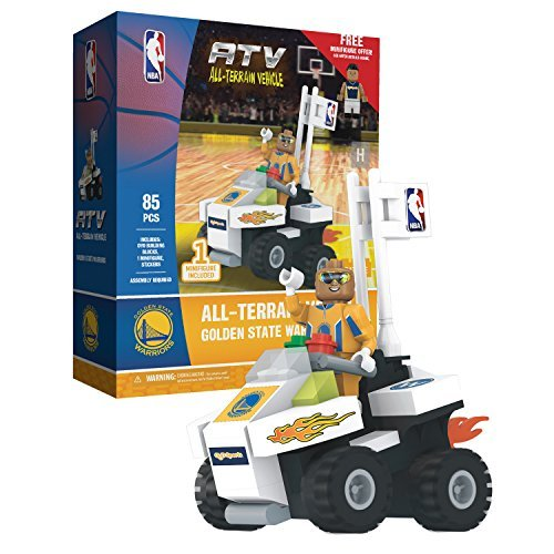 OYO Sports NBA 4 Wheel ATV with Super Fan Minifigure Golden State Warriors