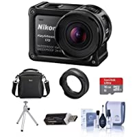 Nikon KeyMission 170 Action Camera - Bundle With 16GB MicroSDHC Card, Camera Case, Cleaning Kit, Card Reader, Nikon AA-14B Lens Protector, Table Top Tripod