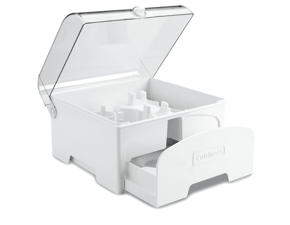 Cuisinart FP-12SC Elite Collection Accessory Storage Case for 12-Cup Food Processors, White