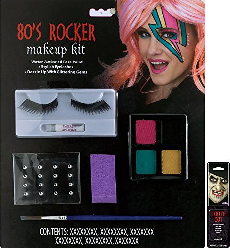 Potomac Banks® Ghostly Character Makeup Kit (80's Rocker) with Free Pack of Makeup]()
