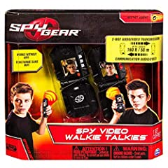 Don't just speak to your fellow Spy, watch them with the all new Spy Gear Video Walkie Talkies.